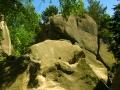 Skały piaskowcowe w Rezerwacie Prządki koło Krosna.