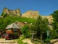 Widok na Zamek Kamieniec w Odrzykoniu położony w okolicach Krosna.