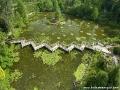 Arboretum w Bolestraszycach - widok z lotu ptaka.