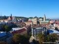 Widok na starówkę Przemyśla ze szczytu wieży (dawnej dzwonnicy) Muzeum Dzwonów i Fajek.