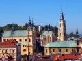 Katedra greckokatolicka (po lewej), przemyski zamek (środek) i katedra łacińska (najwyższa wieża).