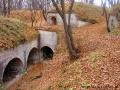 Dobrze ukryte wśród przyrody forty Wielkiej Twierdzy Przemyskiej.