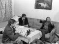 Lech Wałęsa podczas wywiatu dla TVP podczas internowania w Hotelu w Arłamowie.