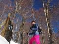 Szlak zielony na Połoninę Caryńską zimą - widoki na całym szlaku niemal niczym nie ograniczone!