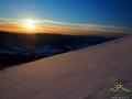 Zachód słońca od strony Słowacji, a dokładnie nad pasmem Dział w pobliżu Wetliny.