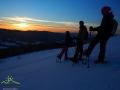 Zachód słońca nad Bieszczadami widziany z Połoniny Caryńskiej.