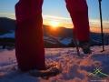 Zachód słońca podczas wycieczki na rakietach śnieżnych ;-)