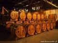Whisky / brandy składowane w dębowych beczkach w pobliżu zamku w Starej Lubowli.