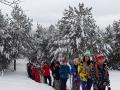 Wędrówka na rakietach śnieżnych po szlaku niebieskim prowadzącym z Sanoka na Chryszczatą.