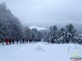 Tuż przed szczytem góry Suliła 759m, którą zdobyliśmy tylko dzięki rakietom śnieżnym.