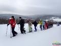 Pierwsze kroki na rakietach śnieżnych - pod nami było średnio 1m śniegu.