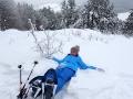 Chodzimy, leżymy, podziwiamy widoki - grunt to dobra zabawa w Bieszczadach zimą!