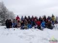 Grupa na szczycie góry Suliła 759m, czyli na granicy między Łemkowszczyzną, a Bojkowszczyzną.