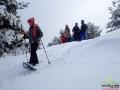 W tym miejscu na północnych zboczach góry zaspy sięgały do 5m!