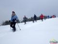 Jak widać na rakietach śnieżnych można też biec! A pod nami około 1m śniegu...