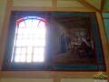Chrystus w chyży łemkowskiej na malowidle wewnątrz cerkwi w Turzańsku namalowany początkiem XIX wieku!