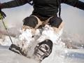 Zabawa w rakietach śnieżnych w Bieszczadach
