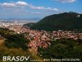 Widok na Brasov z krętej drogi prowadzącej do Poiana Brasov