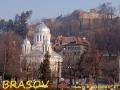 W centrum Brasova - widok na cerkiew i zamek
