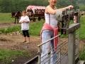 Ważenie po wycieczce górskiej w Bieszczadach
