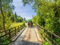 Jeden z mostków drewnianych mijanych na trasie przejazdu wozami traperskimi.