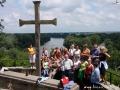Punkt widokowy na rzekę Cisa (świętą rzekę Węgrów) i wpadającą do niej rzekę Bodrog.