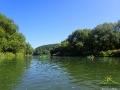 Krajobrazy podczas spływu rzeką San są niepowtarzalne.