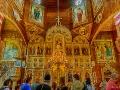 Wnętrze cerkwi w Jasienicy Zamkowej.