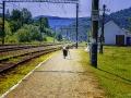 Uchwycona chwila na stacji w Wołosiance Zakarpackiej...