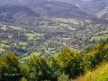 Widoki na góry podczas przejazdu Koleją Zakarpacką...