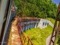 Jeden z 27 wiaduktów na odcinku 18 km, podczas którego pociąg pokonuje 370 m różnicy poziomów!