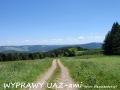 WYPRAWY UAZ-em Bieszczady - widok na Szczawne i Kulaszne
