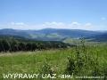 WYPRAWY UAZ-em Bieszczady - widok na połoniny, Turzańsk i Rzepedź