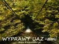 WYPRAWY UAZ-em Bieszczady - kładka na linach (po kopalni ropy naftowej w Mokrem)