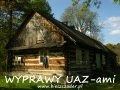 WYPRAWY UAZ-em Bieszczady - typowe budownictwo