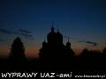 WYPRAWY UAZ-em Bieszczady - cerkiew w Kulasznem o zachodzie słońca