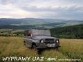 WYPRAWY UAZ-em Bieszczady - widok w stronę Karlikowa i Płonnej
