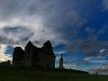 Klasztor w Zagórzu w ostatnich promieniach słońca...