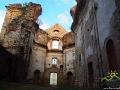 Wnętrze klasztoru w Zagórzu - wschodnia ściana.