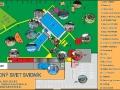 Plan basenów Wodny Świat w Svidniku