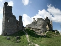 Panorama na ruiny zamku Brekov