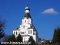 Cerkiew św. Ducha w Medzilaborcach z 1600m2 polichromii! - widziana z autokaru