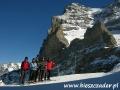 2008 luty, Narty SZWAJCARIA Jungfrau pod ścianą Eiger 3971m