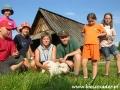 2006 lipiec, BIESZCZADY przy bacówce, Grupa harcerzy z Sanoka