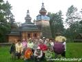 2007 wrzesień, BIESZCZADY cerkiew w Turzańsku z 1803r., Grupa z Kościerzyny