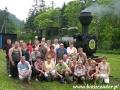2006 czerwiec, BIESZCZADY lokomotywa parowa w Majdanie, Grupa z Łodzi