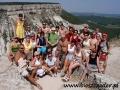 2009 sierpień, UKRAINA Krym nad wąwozem z Czufut Kale, Wycieczka z Tucholi