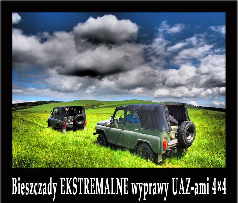 Bieszczady EKSTREMALNE wyprawy UAZ-ami 4×4 oraz pomysły na INTEGRACJĘ w Bieszczadach