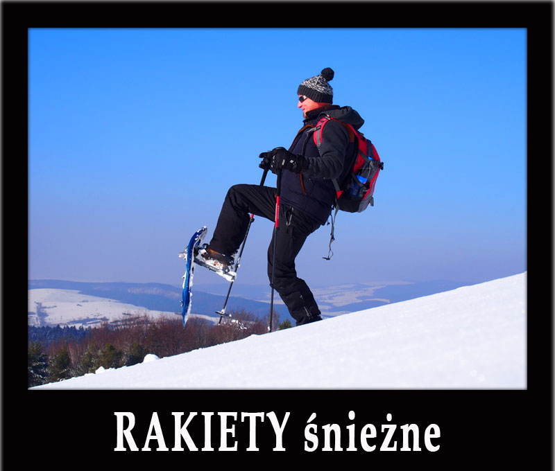KARPACKIE WĘDROWANIE na rakietach śnieżnych po połoninach pogórzańskich oraz największa w Polsce wypożyczalnia rakiet śnieżnych.