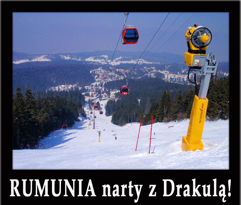 RUMUNIA narty z Drakulą! - Poiana Brasov, Sinaia, Predeal, Azuga - oferty dla grup, hotele, wyciągi...